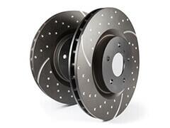 Купить Перфорированные тормозные диски Turbo Grooved EBC Brakes ©